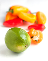 Lime, habanero and peppers